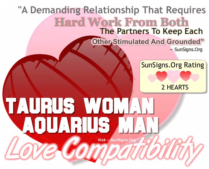 Taurus Woman Aquarius Man Love Compatibility