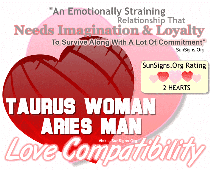 Taurus Woman Aries Man Love Compatibility