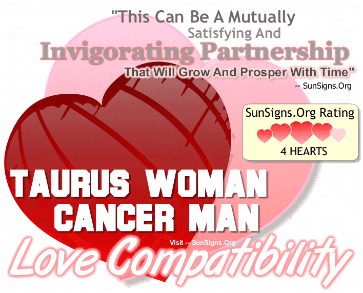 Taurus Woman Cancer Man Love Compatibility