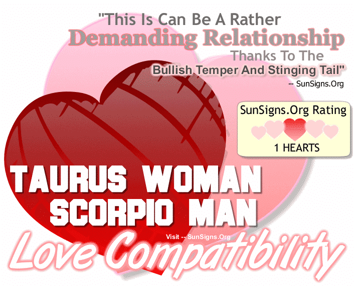 Taurus Woman Scorpio Man Love Compatibility