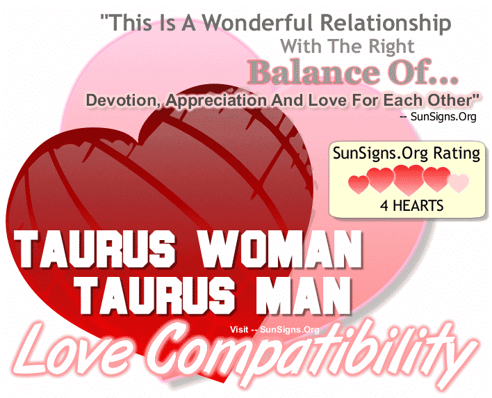 Taurus Woman Taurus Man Love Compatibility