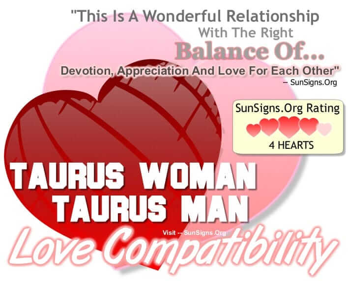taurus woman taurus man. This Is A Wonderful Relationship With The Right Balance Of Devotion, Appreciation And Love For Each Other