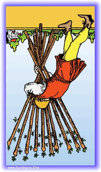 ten of wands reversed