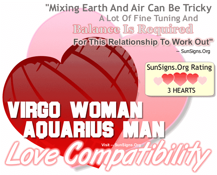 Virgo Woman Aquarius Man Love Compatibility