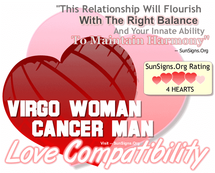Virgo Woman Cancer Man Love Compatibility
