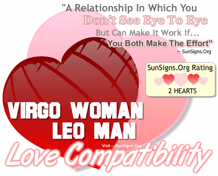Virgo Woman Leo Man Love Compatibility