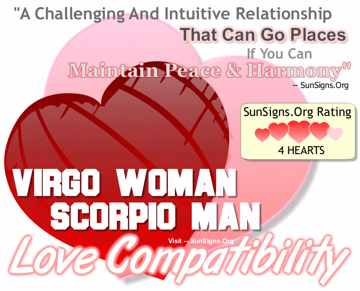 Virgo Woman Scorpio Man Love Compatibility