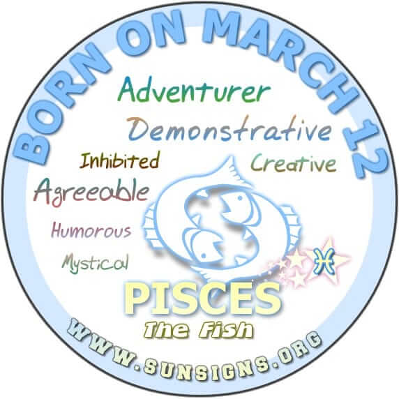 12 march birthday pisces