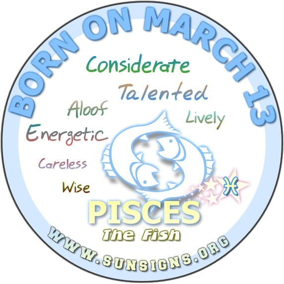 13 march birthday pisces