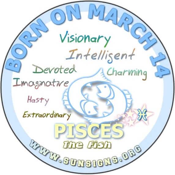 14 march birthday pisces
