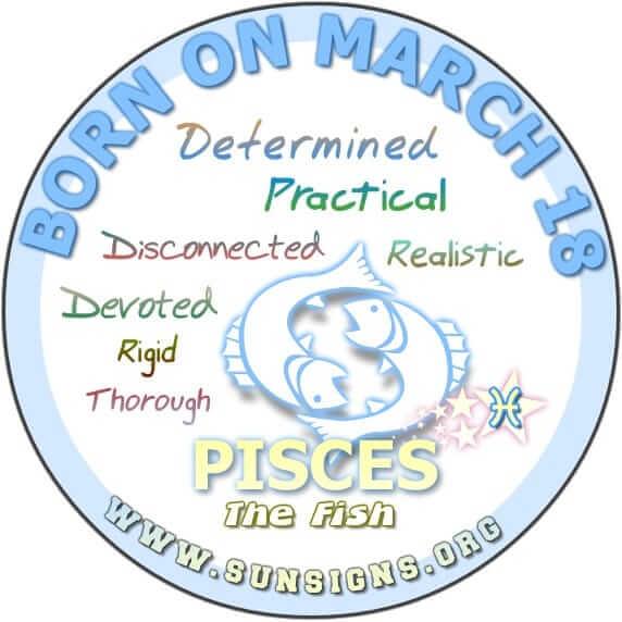18 march birthday pisces