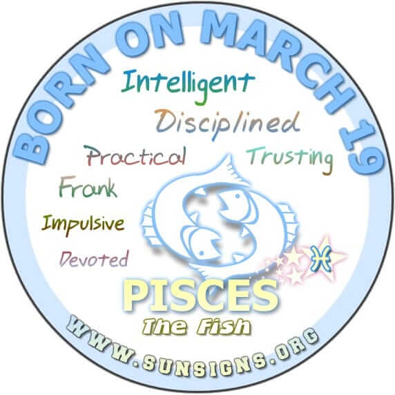 19 march birthday pisces