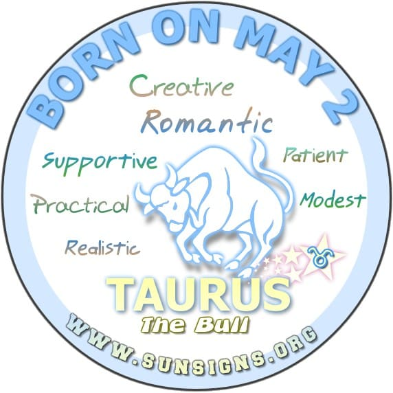 May 2 Zodiac Sign Is Taurus