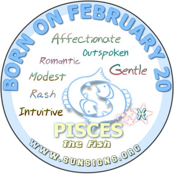 20 february birthday pisces