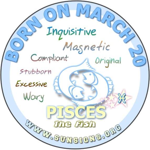 20 march birthday pisces