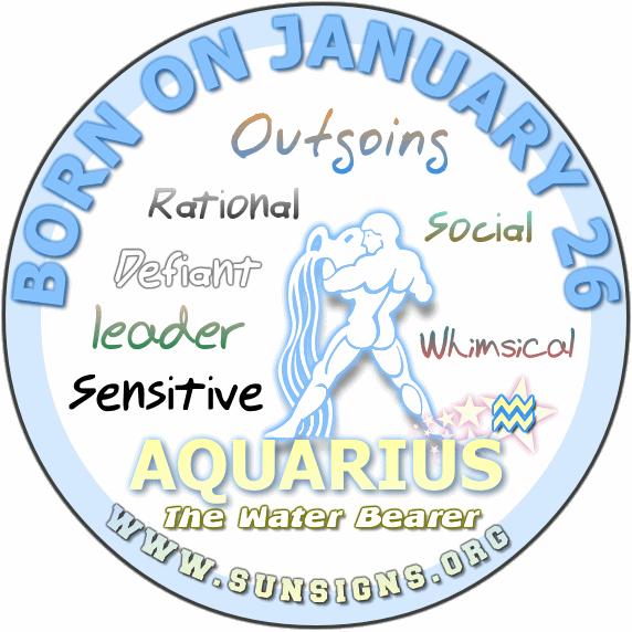 26 january birthday aquarius