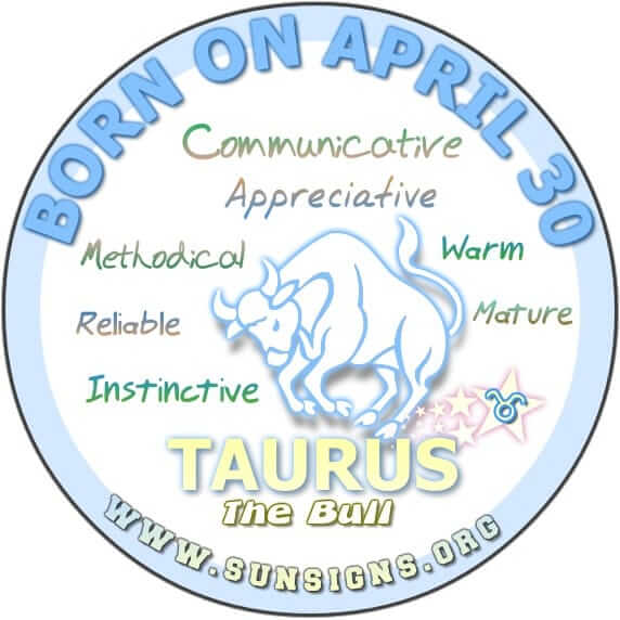 IF YOU ARE BORN ON APRIL 30, you have marvelous communication skills.