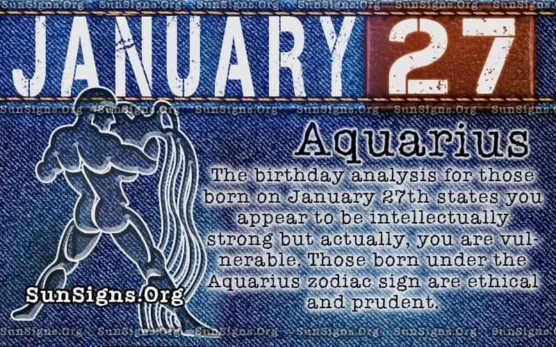 January 27 birthday