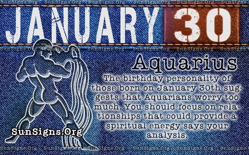 January 30 birthday