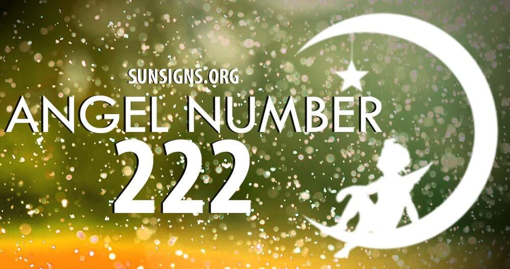 The angel number 222 means faith and trust