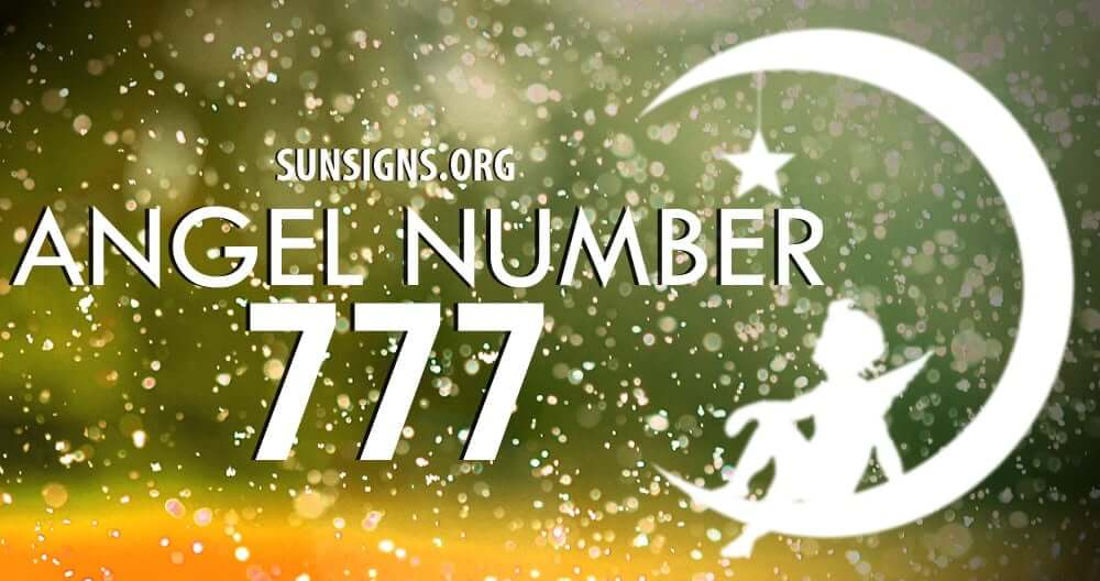 Angel Number 777 is a sign for good things to come