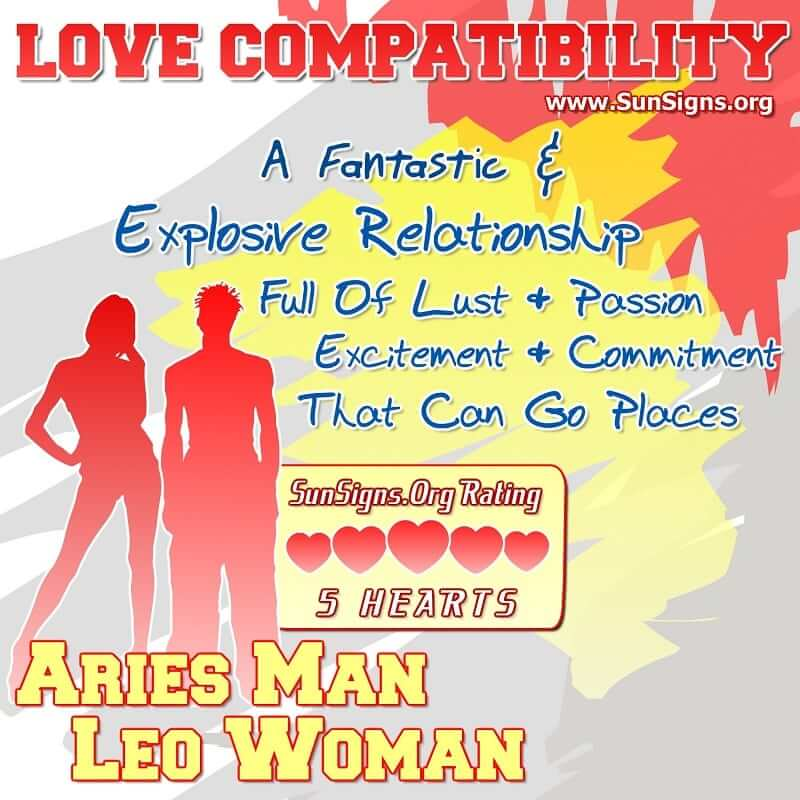 Aries Man Leo Woman Love Compatibility