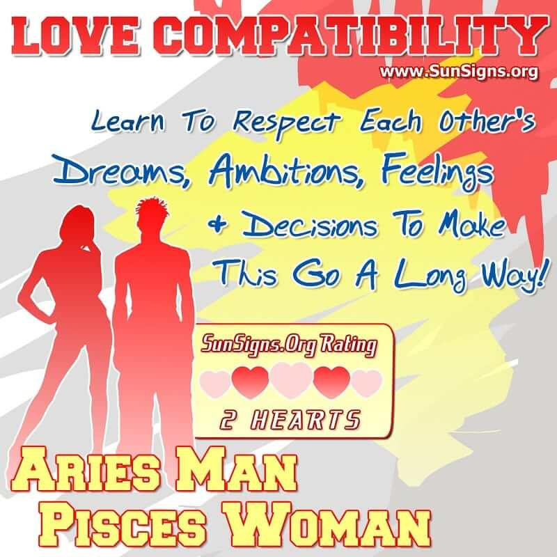 Aries Man Pisces Woman Love Compatibility