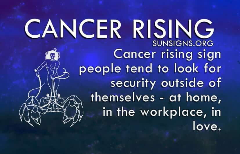 Cancer Rising people are introverts and take quite a while to warm up to someone.