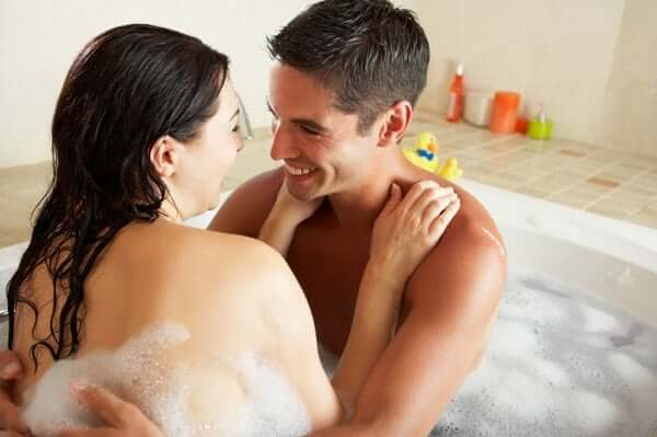 couple bath