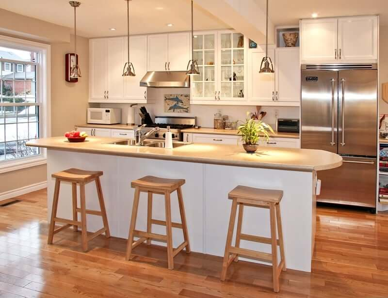 A kitchen that is warm and inviting