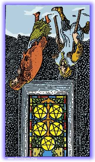 five of pentacles reversed