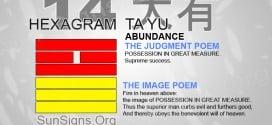 I Ching 14 meaning - Hexagram 14 Abundance