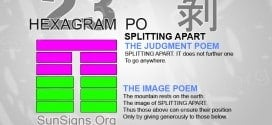I Ching 23 meaning - Hexagram 23 Splitting Apart