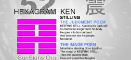 I Ching 52 meaning - Hexagram 52 Stilling