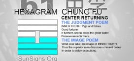 I Ching 61 meaning - Hexagram 61 Center Returning