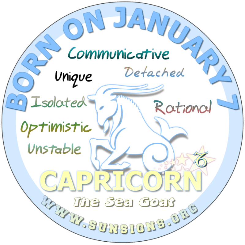 january 7 astrology profile
