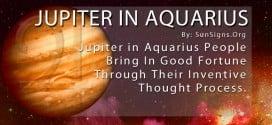 Jupiter In Aquarius. Jupiter In Aquarius People Bring In Good Fortune Through Their Inventive Thought Process.