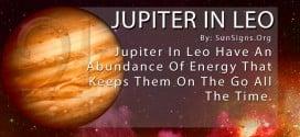 The Jupiter In Leo