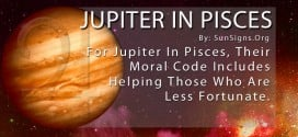 Jupiter In Pisces. For Jupiter In Pisces, Their Moral Code Includes Helping Those Who Are Less Fortunate.