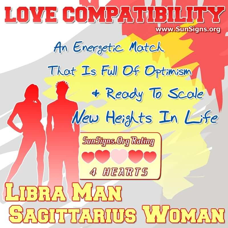 Libra Man Sagittarius Woman Love Compatibility. An Energetic Match That Is Full Of Optimism And Enthusiastic To Scale New Heights In Life.