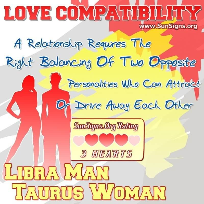 libra man taurus woman