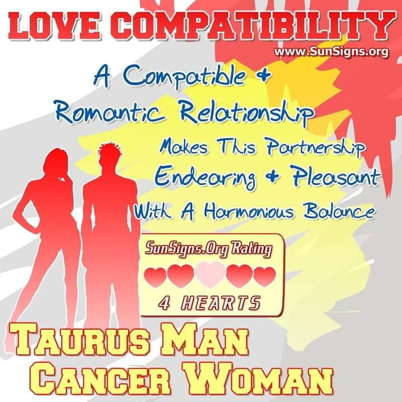 taurus man cancer woman love compatibility A Compatible And Romantic Relationship Makes This Partnership Endearing, Pleasant With A Harmonious Balance