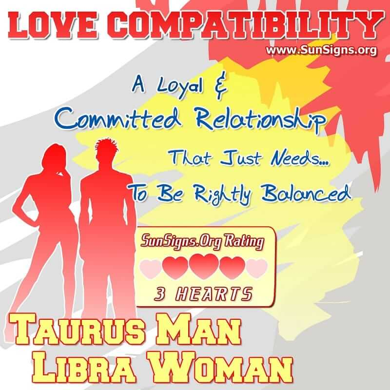 Taurus men and libra woman