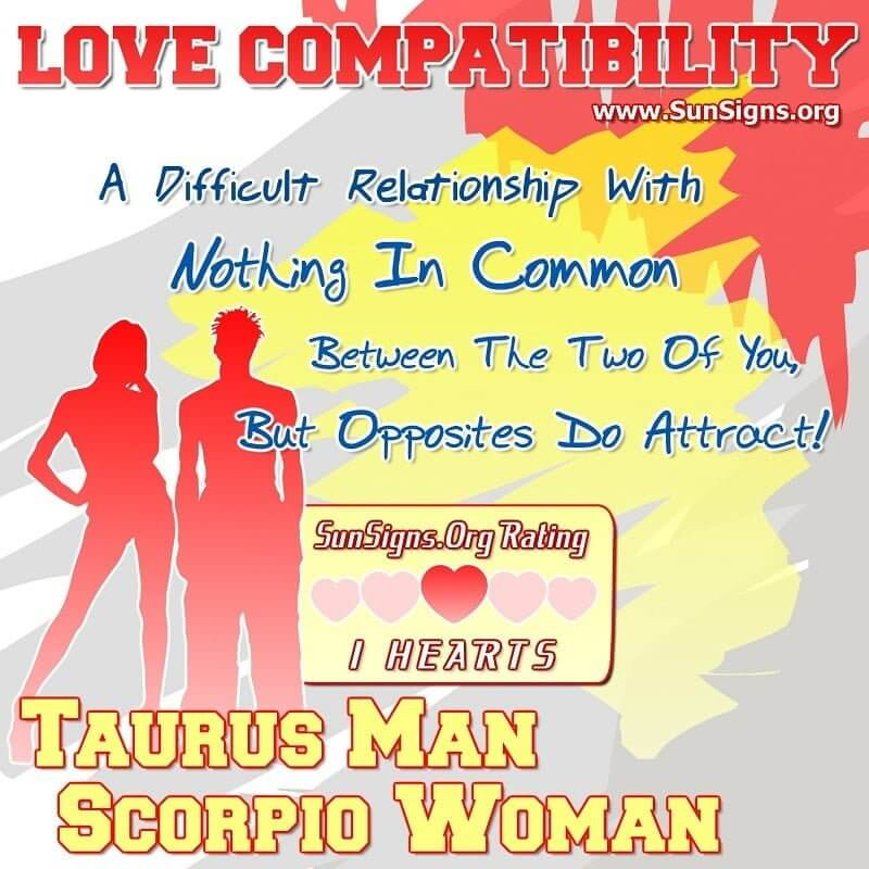 taurus man and scorpio woman dating It isn't their style to engage in a lot of frivolous dating or hook-ups taurus moon sign  scorpio men are  hi i am a capricorn woman with moon in taurus.