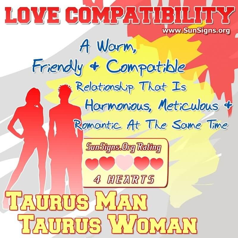 taurus man taurus woman love compatibility A Warm, Friendly And Compatible Relationship That Is Harmonious, Meticulous And Romantic At The Same Time