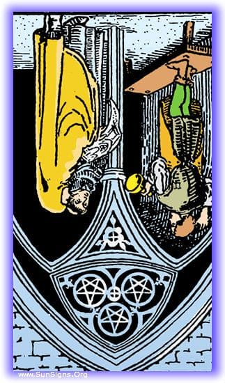 Three Of Pentacles Meanings Amp Interpretation Minor Arcana Sunsigns Org