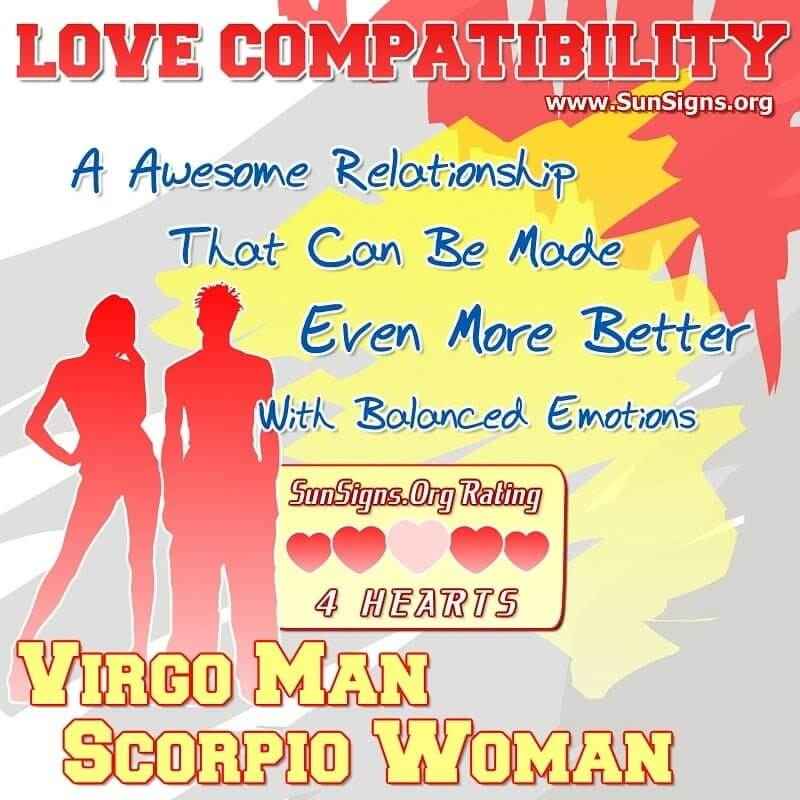 Virgo male scorpio woman