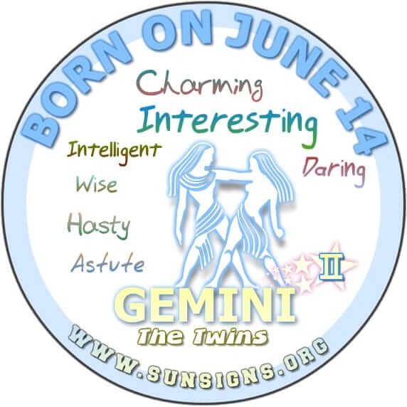 The Gemini, according to the 14th June birthdate meaning analysis, are sharp individuals.