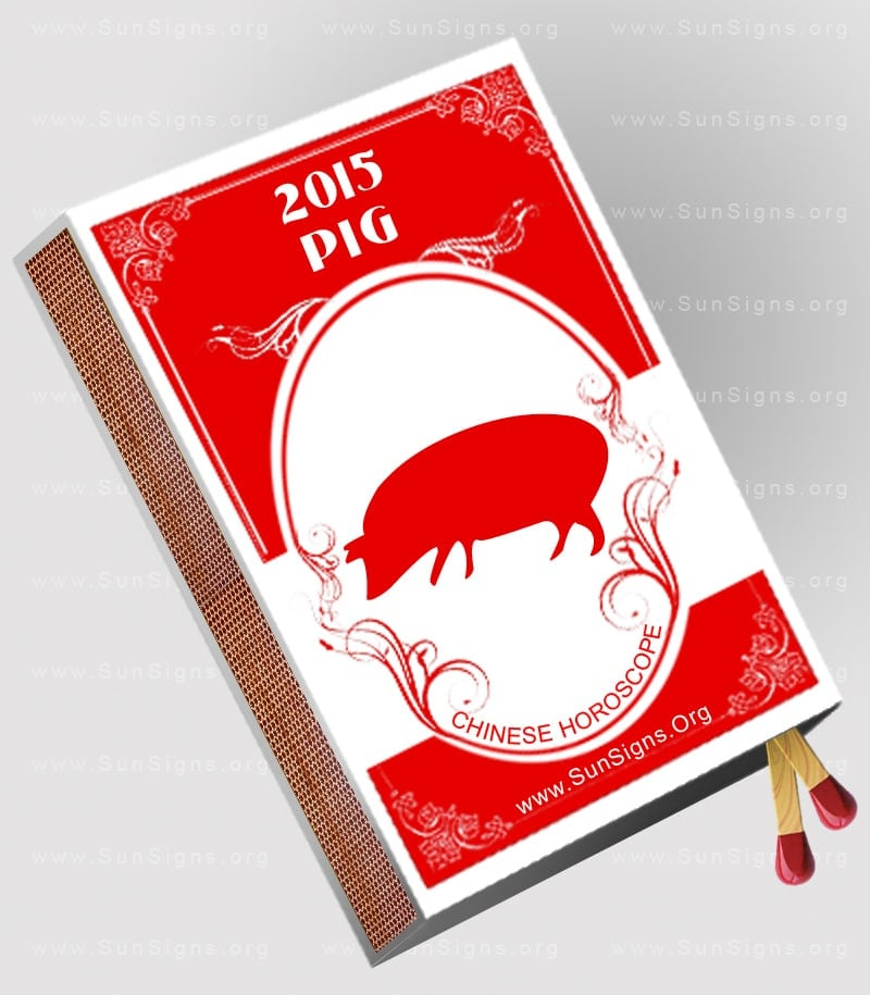 The 2015 Pig horoscope predicts that the coming year will be filled with new experiences, new acquaintances and new places to visit.