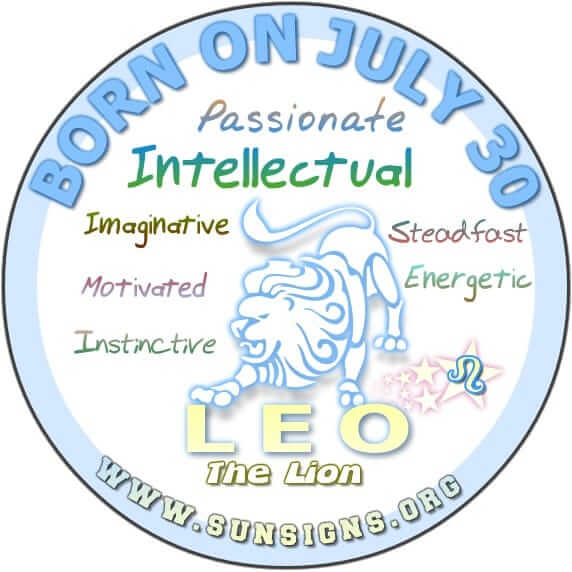 IF YOU ARE BORN ON JULY 30, your zodiac sign is Leo and you have a great potential to be successful.